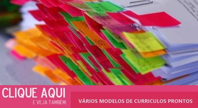 Curriculos Prontos Para Preencher E Imprimir Modelos De Curriculos