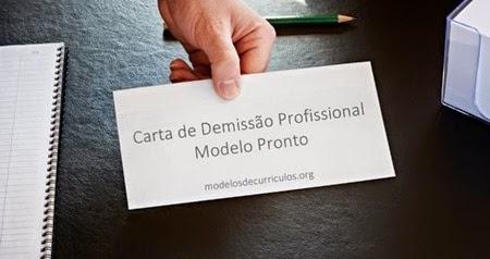 modelo de carta de demissão