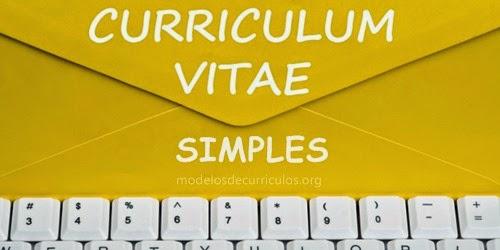 Curriculum Vitae Simples