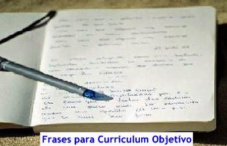 Frases para Curriculum Objetivo