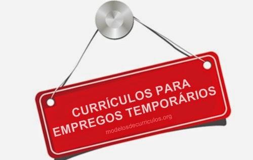 curriculos para empregos temporários