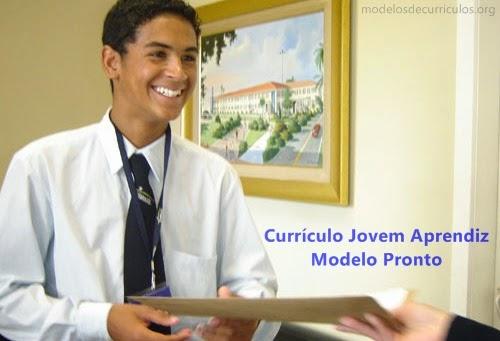 modelo de curriculo jovem aprendiz para preencher