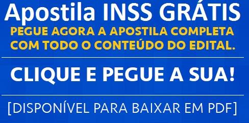 Apostila Concurso INSS 2021 Grátis Para Download