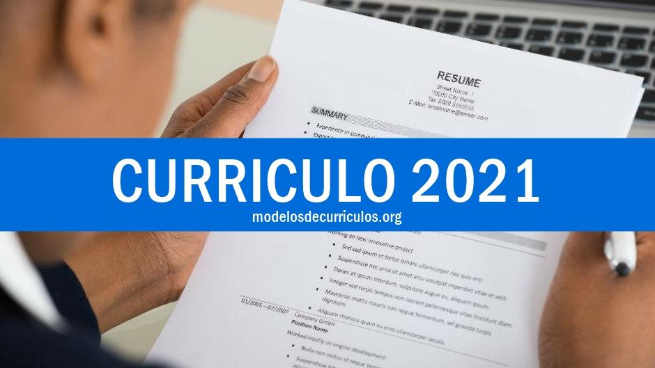 modelo de curriculo 2021