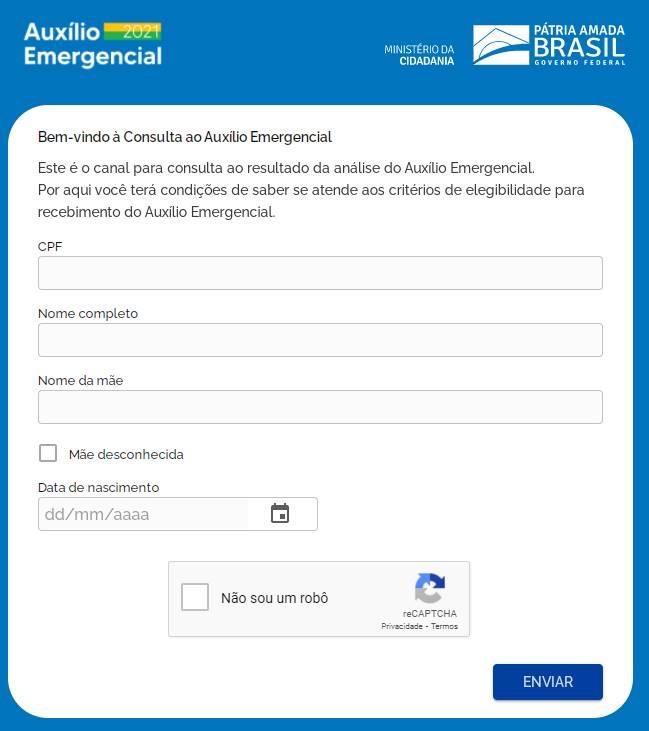 consultar auxilio emergencial 2021