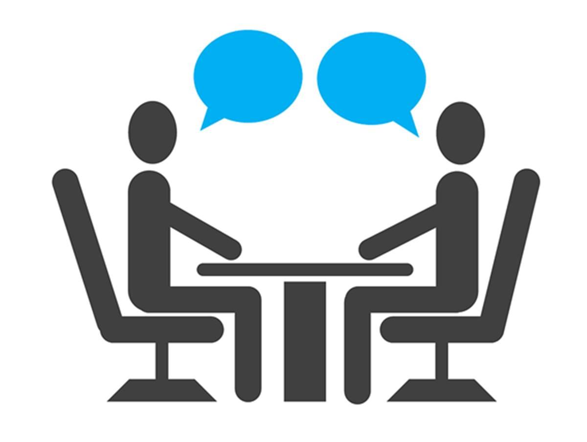 falar em uma entrevista de emprego